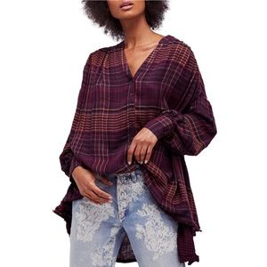 🆕Free People 'Come On Over' Oversized Top Size XS